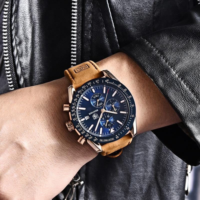 Waterproof Sport Quartz Men's Watches With Chronograph 1